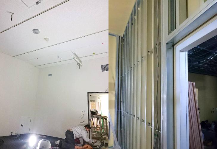 剛建社工事実績 BOSEオートモーティブ防音工事 床、壁(2重壁)